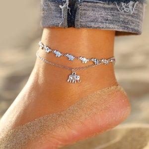 Jewelry - Boho Silver Elephant Anklet